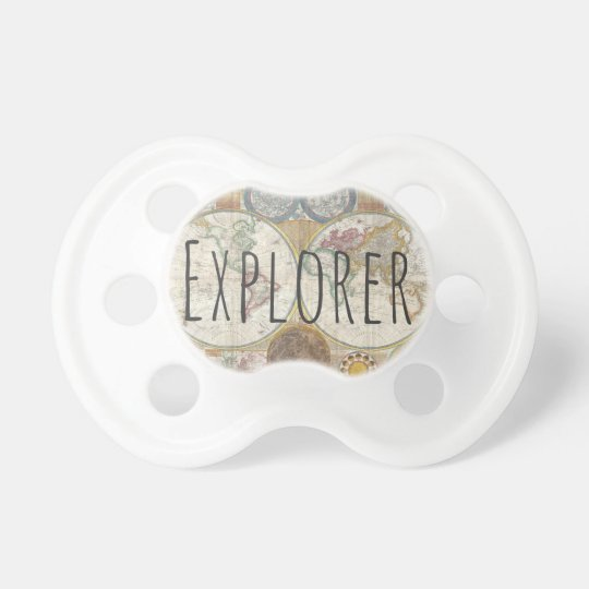 Explorer World Map Pacifiers