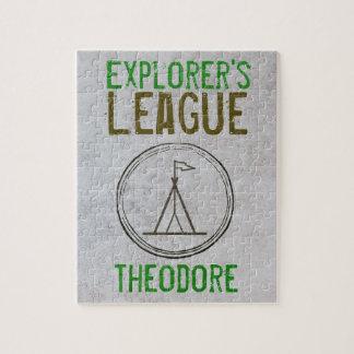 Explorer's League Monogram Puzzle