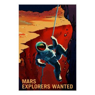 Explorers Wanted on the Journey to Mars, Travel Poster