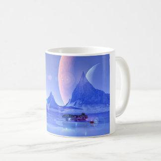 Exploring an Ice Planet Sci-Fi Art Coffee Mug