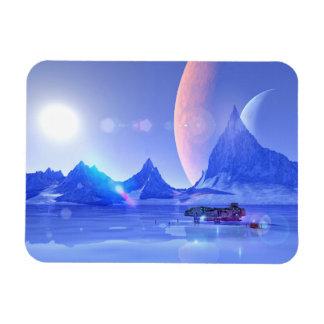 Exploring an Ice Planet Sci-Fi Art Magnet