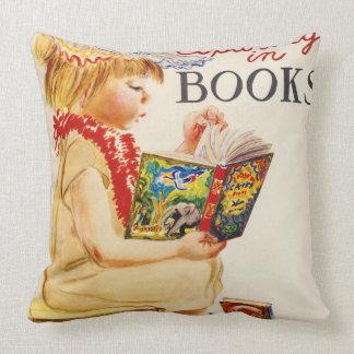 Exploring Books 1961 Throw Pillow
