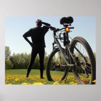 Exploring on a Bike 2 Print