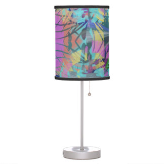 Explosion Abstract in Pinks and Blues Table Lamp