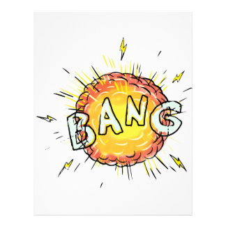 Explosion Bang Cartoon Letterhead