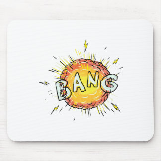 Explosion Bang Cartoon Mouse Pad
