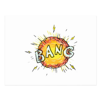 Explosion Bang Cartoon Postcard