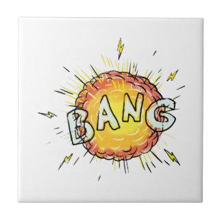 Explosion Bang Cartoon Tiles