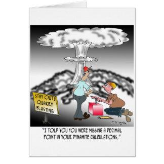 Explosion Cartoon 7971 Card