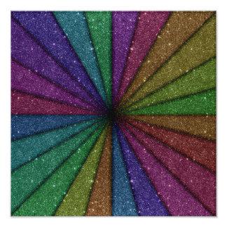 Explosion colorée à la mode de scintillement photo d'art