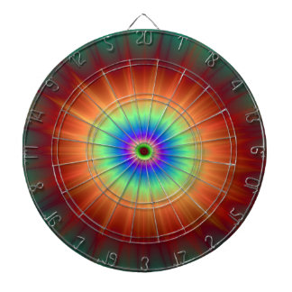 Explosion in Orange Green and Blue Dart Boards