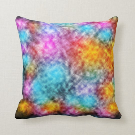 Explosion of colours in space throw pillow