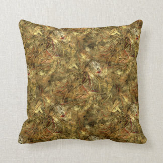 Explosion of Gold & Brown Throw Pillow