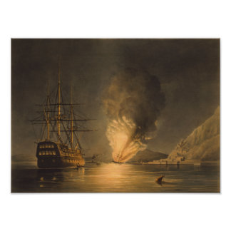 Explosion Of The USS Steam Frigate Missouri Poster
