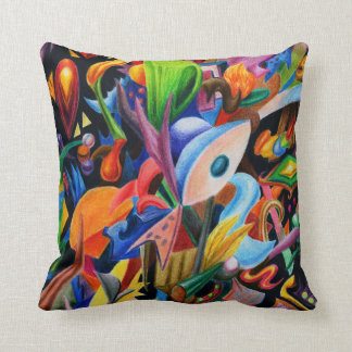 Explosion of Thought Throw Pillow
