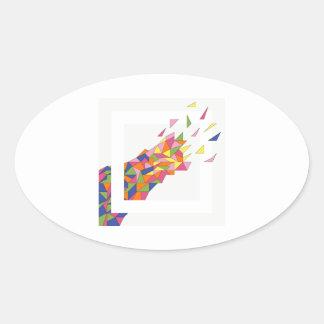 Explosion Oval Sticker