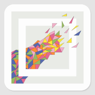 Explosion Square Sticker
