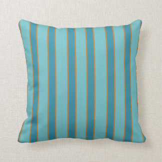 Explosion Stripes in Blues to Coordinate Throw Pillow