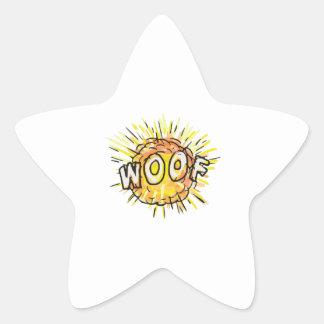 Explosion Woof Cartoon Star Sticker