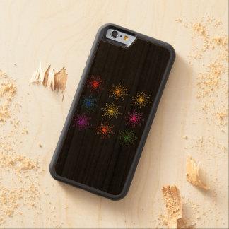 Explosions comiques colorées coque pare-chocs en cerisier iPhone 6