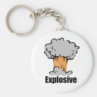 Explosive Basic Round Button Keychain