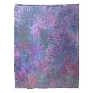 Explosive Bed | Purple Pink Green Blue Splatter | Duvet Cover