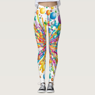 Explosive bubble print funky crazy pattern legging