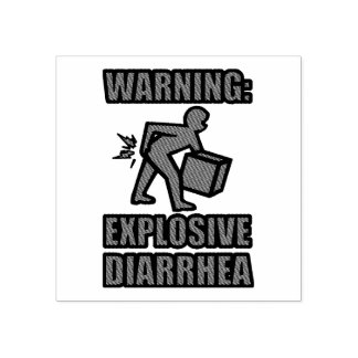 Explosive Diarrhea Rubber Stamp