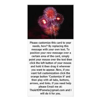 Explosive Fireworks Celebration Personalized Photo Card