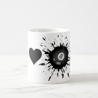 Explosive I Love Billiard Coffee Mug