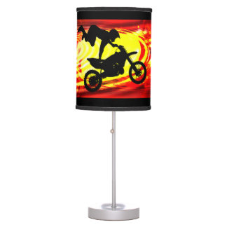 Explosive Motocross Jump Table Lamp