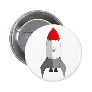 Explosive Rocket 2 Inch Round Button