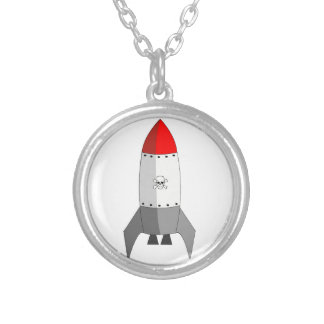 Explosive Rocket Silver Plated Necklace