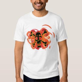 Explosive Skull and Crossbones T Shirt