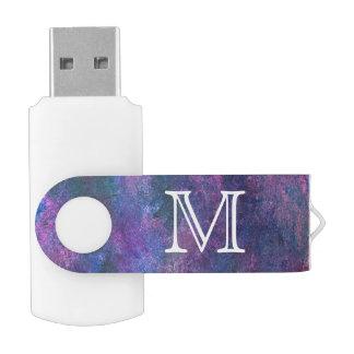 Explosive Tech | Monogram Purple Blue Pink Green USB Flash Drive