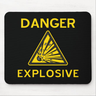 Explosive Warning Mousepad