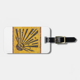Explosive Warning Sign Luggage Tag