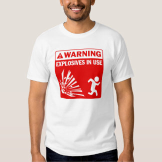 explosives3 t-shirt