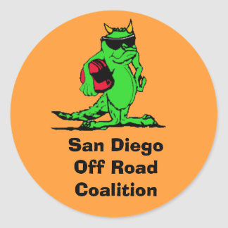 expo_liz, San Diego Off Road Coalition Classic Round Sticker