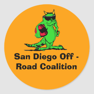 expo_liz, San Diego Off - Road Coalition Round Sticker