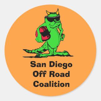 expo_liz, San Diego Off Road Coalition Round Sticker