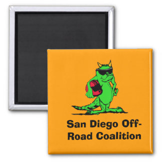 expo_liz, San Diego Off-Road Coalition Square Magnet