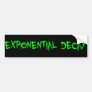 Exponential Decay Sticker Green Logo