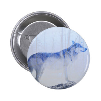 Exposed Wolf 2 Inch Round Button