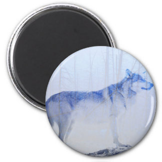 Exposed Wolf 2 Inch Round Magnet