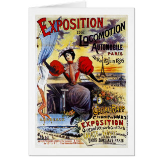 Exposition de Locomotion 1895 - Paris - Vintage Card