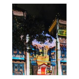 Exposition de lumière de Noël à Medellin Colombie Carte Postale