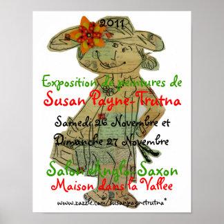 Exposition de Peintures de Susan Payne-Trutna Poster