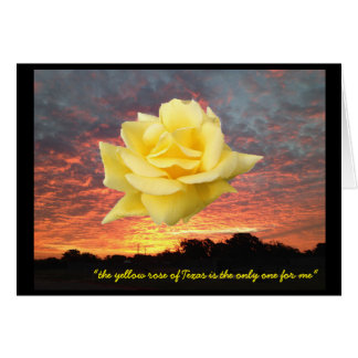 Express your love with a Texas yellow rose card