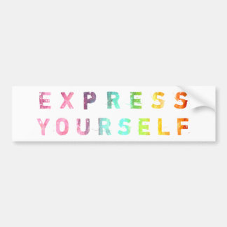 Express Yourself - Painterly Bumper Sticker